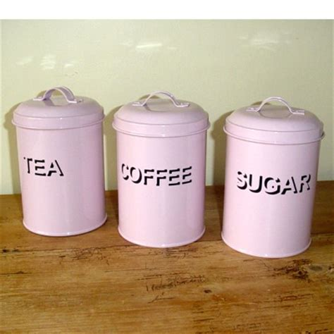 pink kitchen canisters pink tea coffee sugar canisters kitchen accessorie
