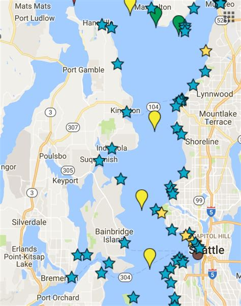 Map Of Puget Sound And by Orcas Starting To Follow Chum Salmon Into Central Puget