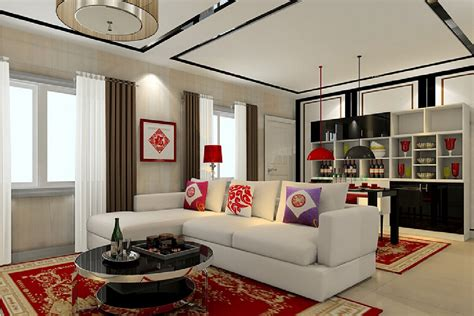 new year house interior decoration 3d house