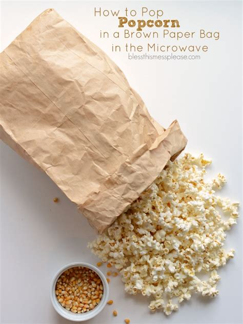 Make Popcorn In A Paper Bag - how to pop popcorn in a brown paper bag in the microwave