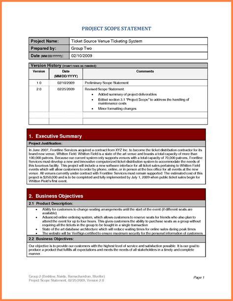 7 Project Scope Statement Exle Marital Settlements Information Project Scope Statement Template