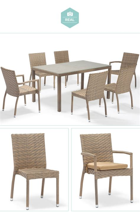 Barcelona Imitation Rattan Garden Furniture Plastic Rattan Plastic Rattan Outdoor Furniture