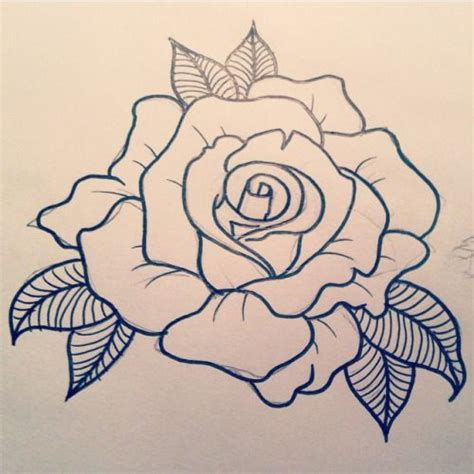 rose tattoo outlines designs search pinteres