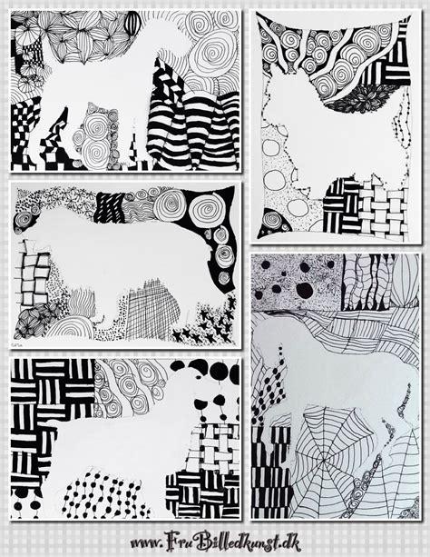 doodle and doodle 2 doodle silhuetter 4 klasse frubilledkunst
