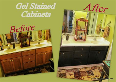Diy Staining Kitchen Cabinets How To Stain Kitchen Cabinets With Gel Stain Gnewsinfo