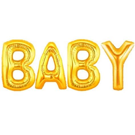 aerfas 40 inch gold letters quot baby quot shaped helium foil balloons for baby shower bridal