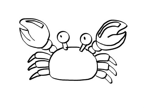 Printable Crab Coloring Pages Coloring Me Crab Colouring Pages