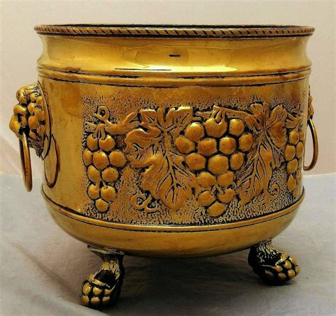 head planter pots for sale french jardiniere or planter of brass with lion s head for