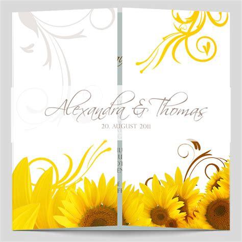 Design Hochzeitseinladung by Hochzeitseinladung Modernes Sonnenblumen Design