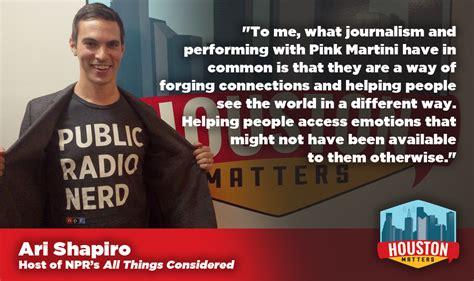 pink martini ari shapiro npr s ari shapiro on what journalism has in common with