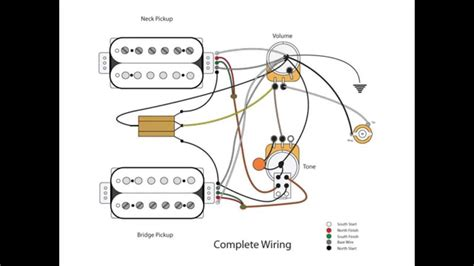 2 b humbucker vol tone wiring diagram 2 wiring diagram