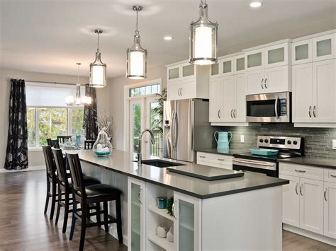 dvi lighting kitchen transitional with black bar stools