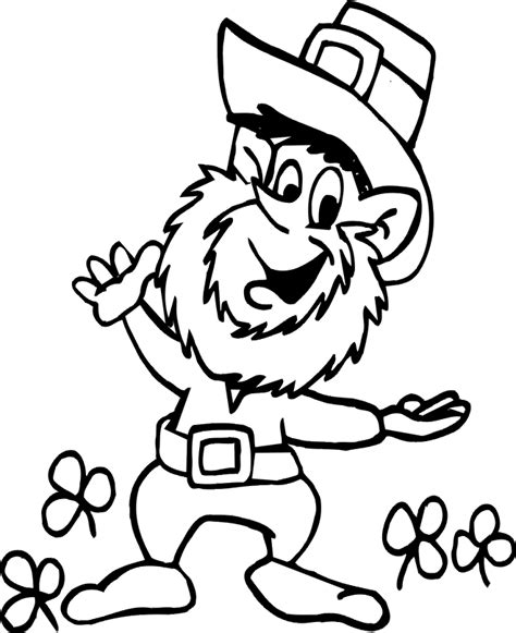 Leprechaun Coloring Page Coloring Sheet 4