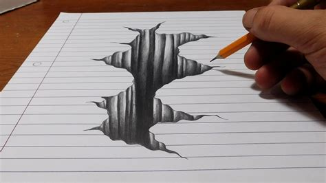 3d Drawing by Optical Illusions Drawing On Paper Trick On Line Paper