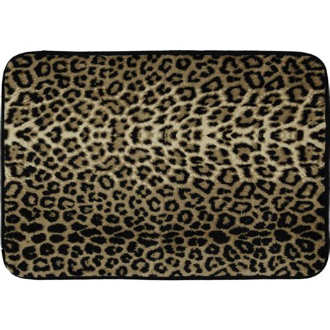 leopard print bathroom rugs cloud 9 memory foam bath mat animal print bath mat slip