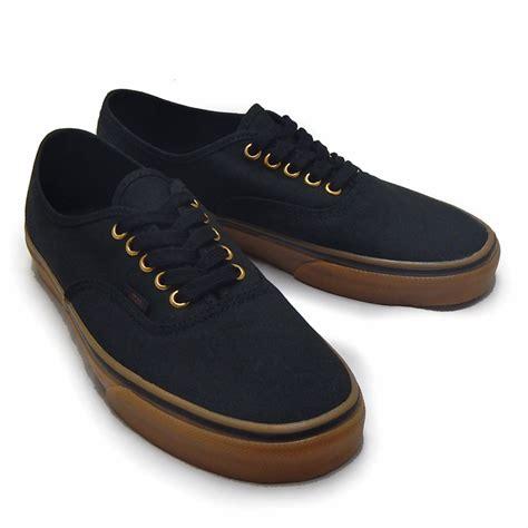 Vans Authentic Black Gums Black Rubber Original sneaker bouz rakuten global market vans vans sneakers mens classics s authentic black