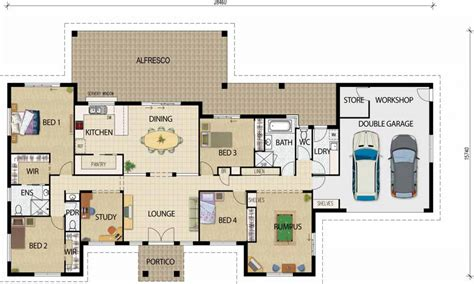 House Design Plans | best open floor house plans rustic open floor plans