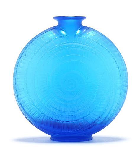 Lalique Blue Vase by Lalique Escargot Blue Philip Chasen Antiques