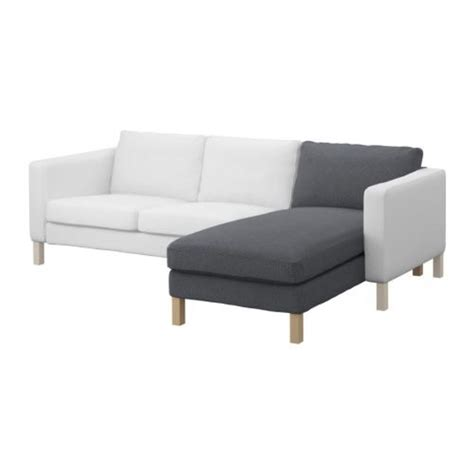 ikea karlstad chaise ikea karlstad add on chaise longue slipcover cover korndal