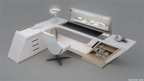 modern desk design by encho enchev sci fi 3d encho enchev concept art world