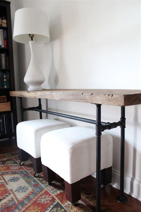 diy sofa table legs diy plumbing pipe console table bob vila