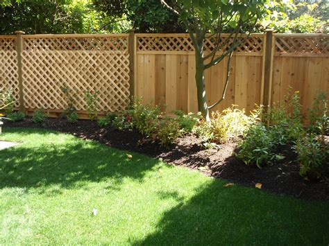 fence ideas for backyard new fence garden design 2 nice pot