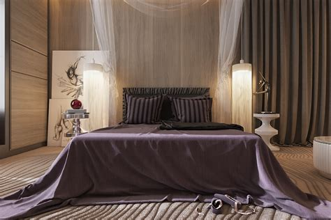 dance themed bedroom three luxurious apartments with dark modern interiors