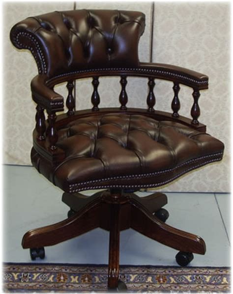 captains swivel chair chestnut brown captains swivel desk chair picture a1