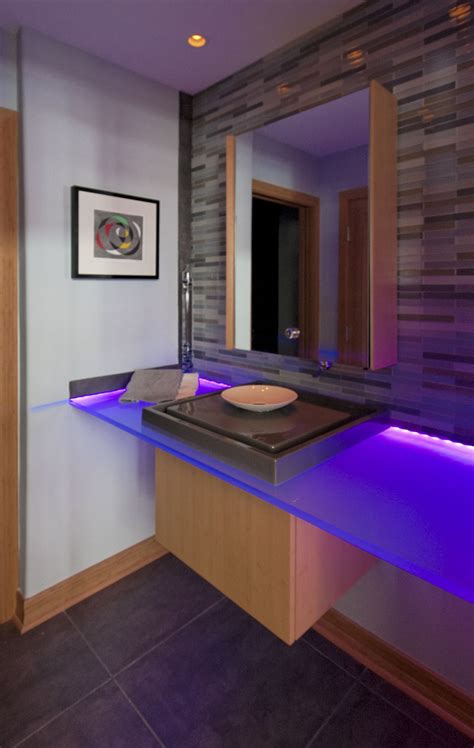 contemporary powder room long grove il better kitchens