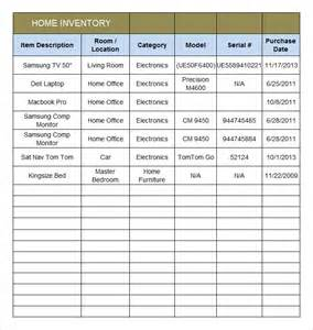 free home inventory template home inventory template 7 free excel pdf documents