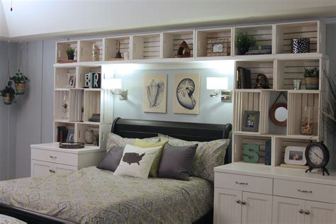 bookshelves around bed craft crate built in shelving east coast creative