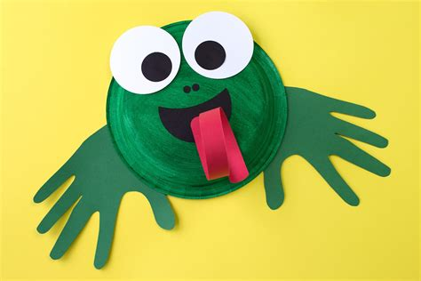 frog craft for paper plate frog craft