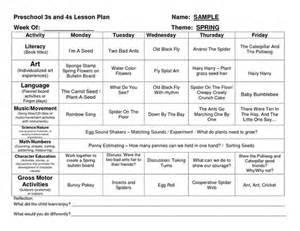 daycare lesson plan template preschool lesson plan template homeschool preschool