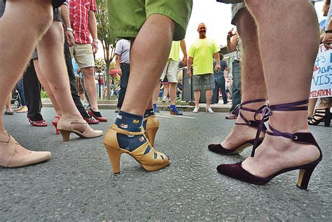 taking the high heel road walk a mile in shoes