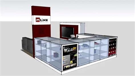 kiosk design maker mlink westfield kiosk design 3d video youtube