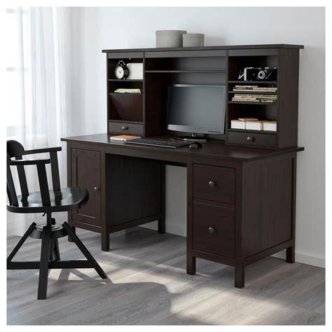 ikea hemnes scrivania hemnes scrivania con modulo aggiuntivo nero e marrone
