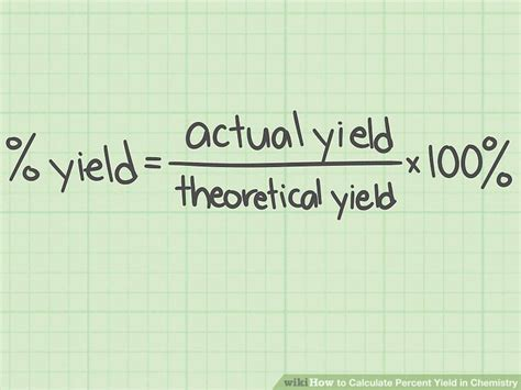 calculator yield the best way to calculate percent yield in chemistry wikihow