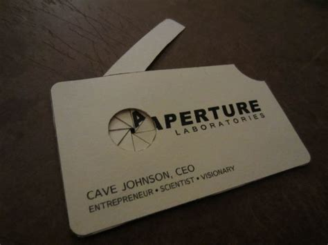 aperture science id card template aperture science business card