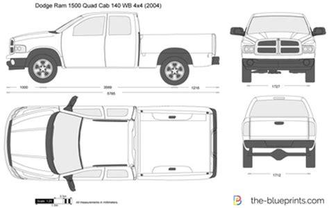 dodge ram 1500 quad cab 140 wb 4x4 vector drawing