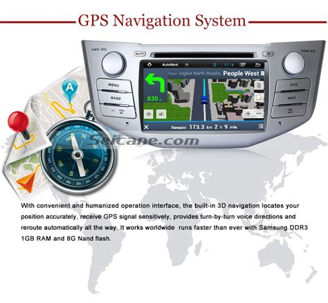 lexus rx navigation system android 4 4 4 in dash dvd gps system for 2004