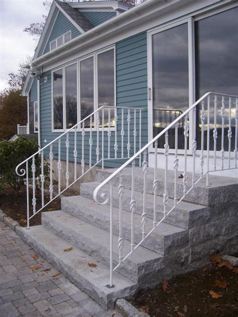 Iron Handrails For Steps iron handrails in granite steps from mainely handrails in
