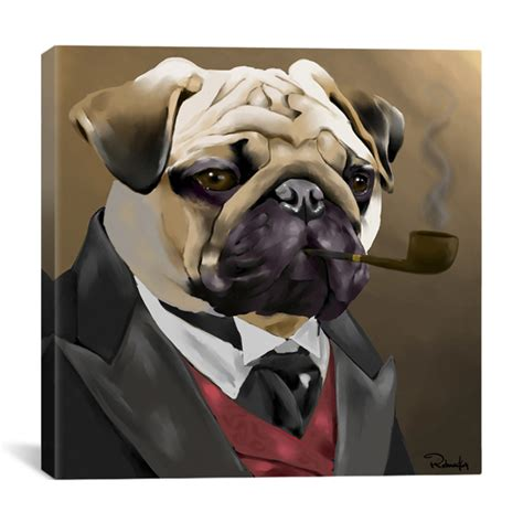 pug pipe 18 x26 and 26 quot x26 quot brian rubenacker prints on canvas