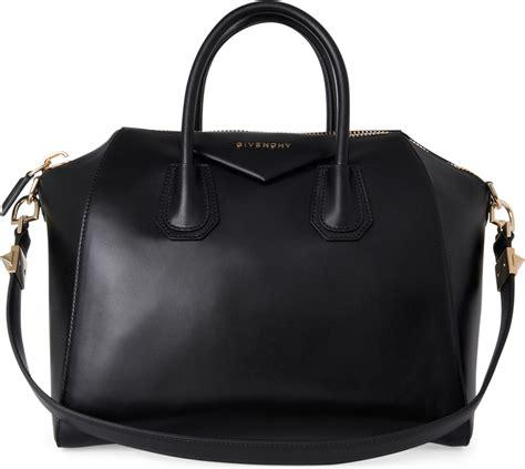 L Is Vuitton Antigona lyst givenchy antigona medium smooth leather tote in black