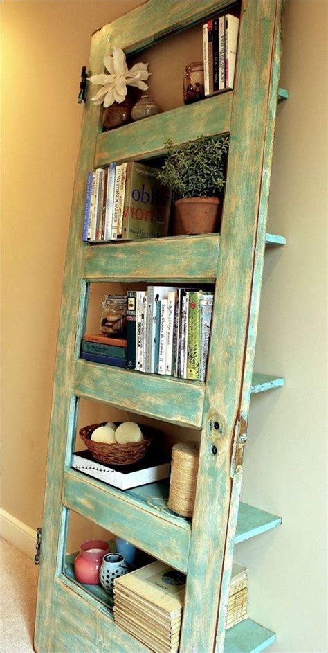 diy bookshelf from panel door home
