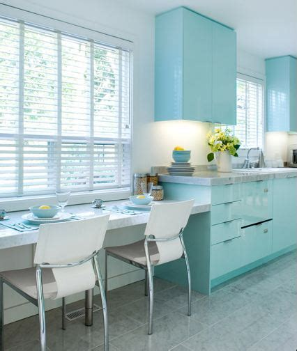 Light Blue Kitchen Ideas Brandon Barre Blue Kitchen Breakfast Bar Light Blue High Gloss Cabinets Cabinetry Color Ideas