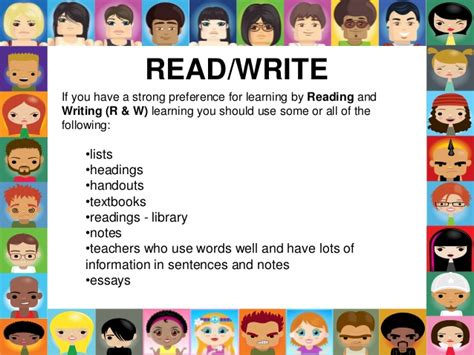 Read Write Learning Style Essay by Learning Styles