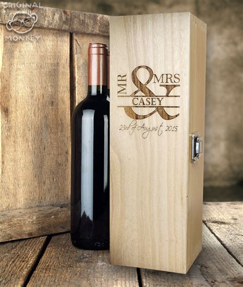 Wedding Gift Wine Box by Personalised Wedding Gift Wine Box Mr Mrs Design Wedding