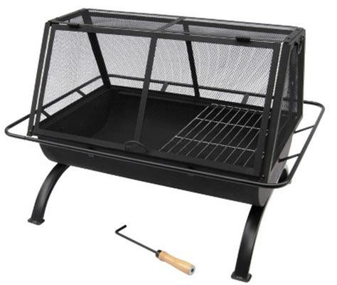 new large metal pit grill w cooking grate
