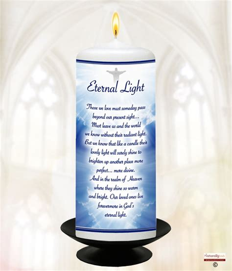 eternal light candles for naturally eternal light remembrance candle 6inch