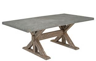Concrete Top Outdoor Dining Table Custom Made Patio Table Woodland Creek Furniture